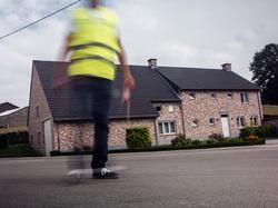 blurry crossing guard