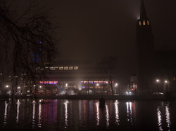 foggy night at flagey