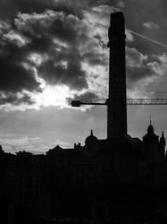 Leuven silhouette sunburst