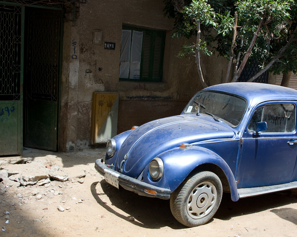 old dusty volkswagen