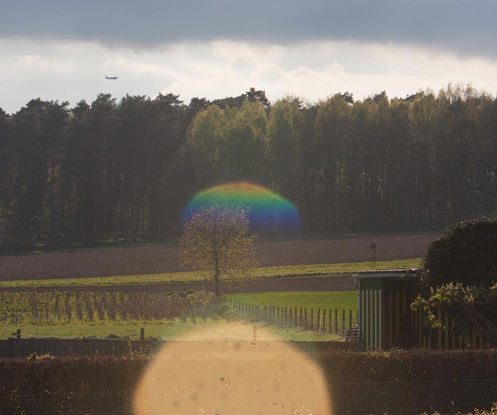 lens flare landscape