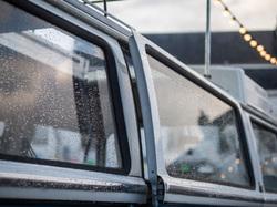 rain drops on a Volkswagen van