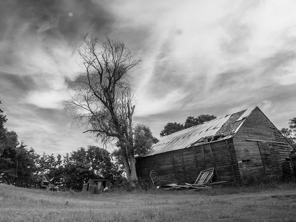 at the old barn