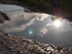 reflecting back light