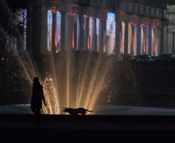 stroll by the fountain