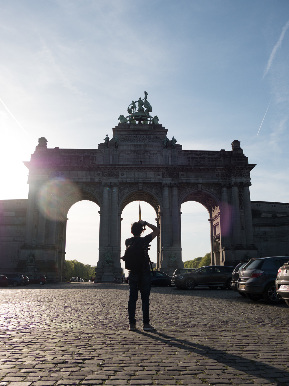 photographer at Cinquantenaire Arch