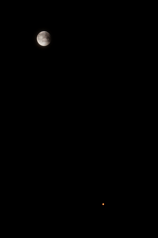 moon and mars july 27 2018 eclipse