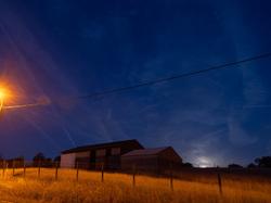 moon rise at the barn