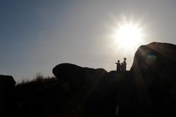 sunburst silhouette