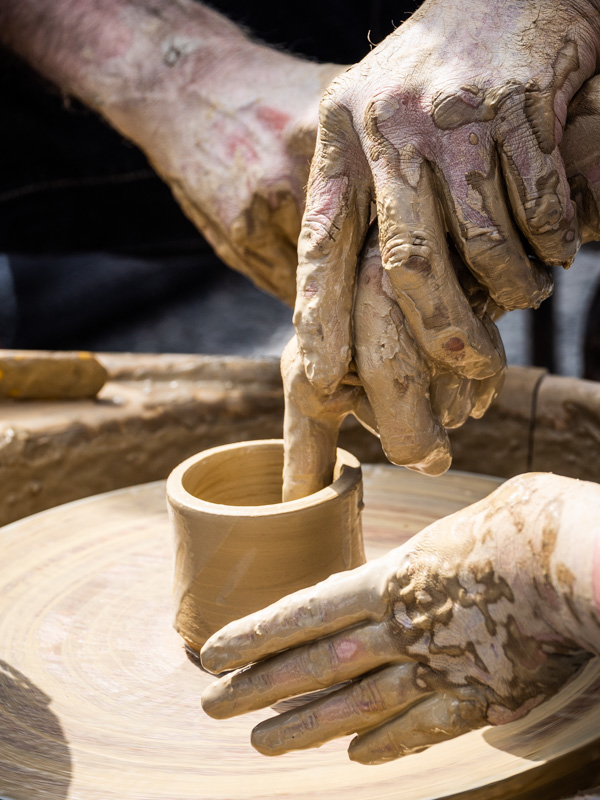 pottery hands
