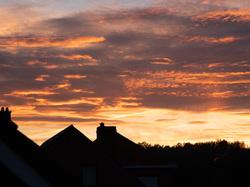 autumn sky in belgium