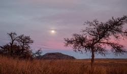 moon and mount scott oklahoma