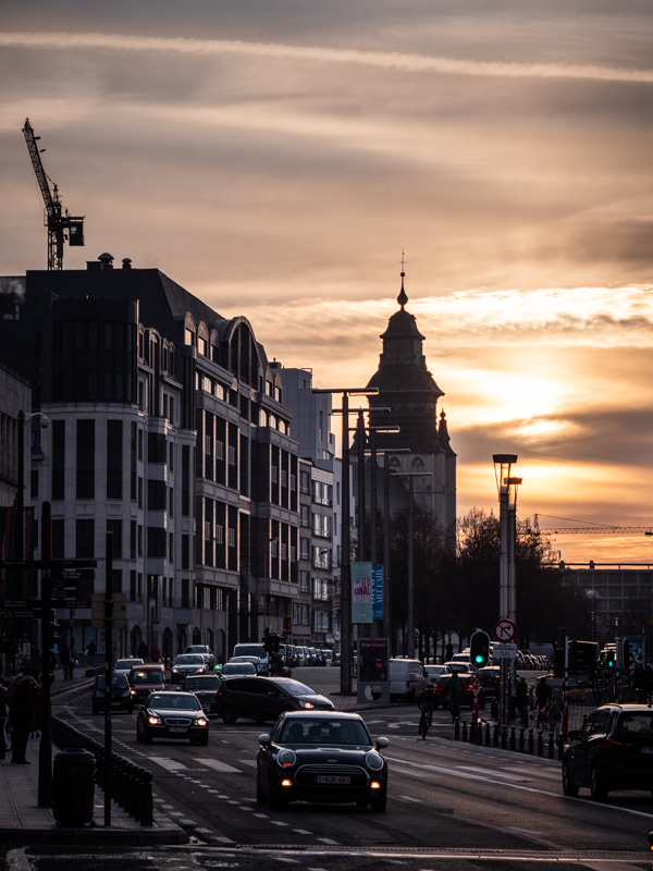 brussels sunset