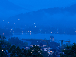 blue hour Tegernsee Germany