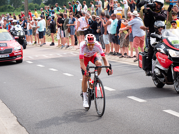 Stephan Rossetto day one of the Tour de France