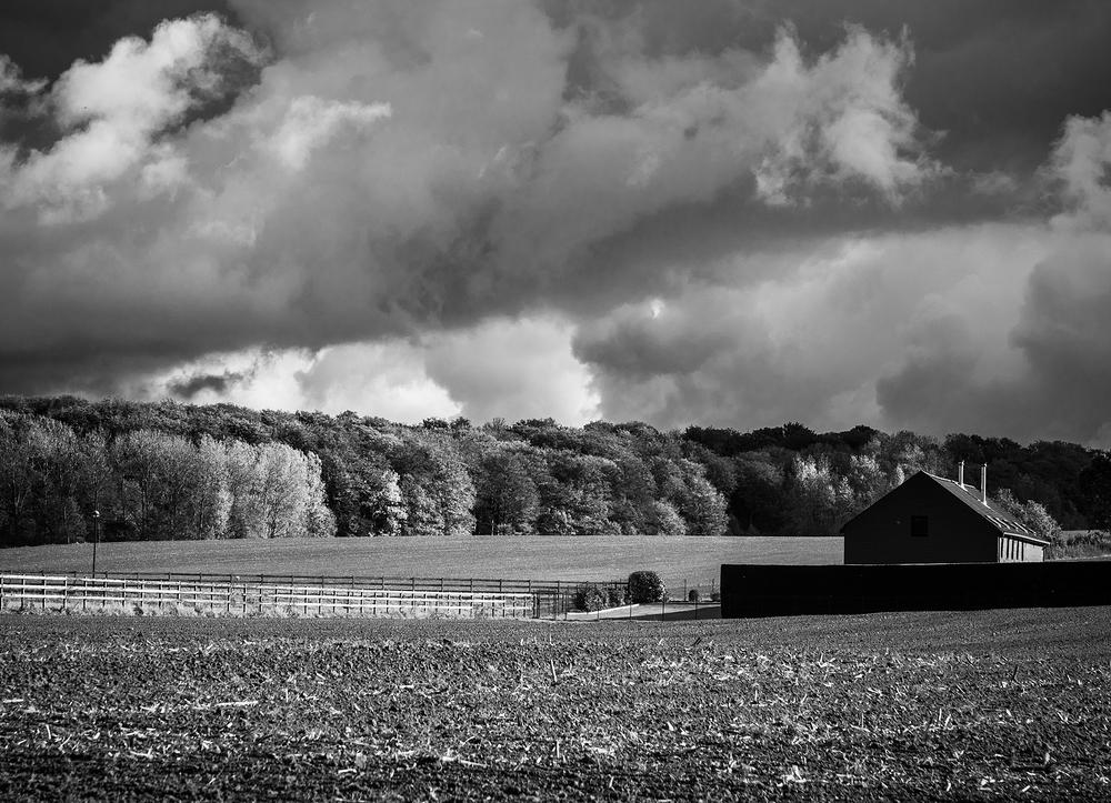 black and white flemish barn