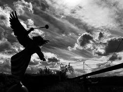 dramatic angel sculpture Tom Frantzen