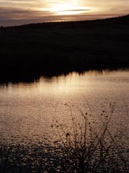 sunset at Wichita mountain wildlife refuge