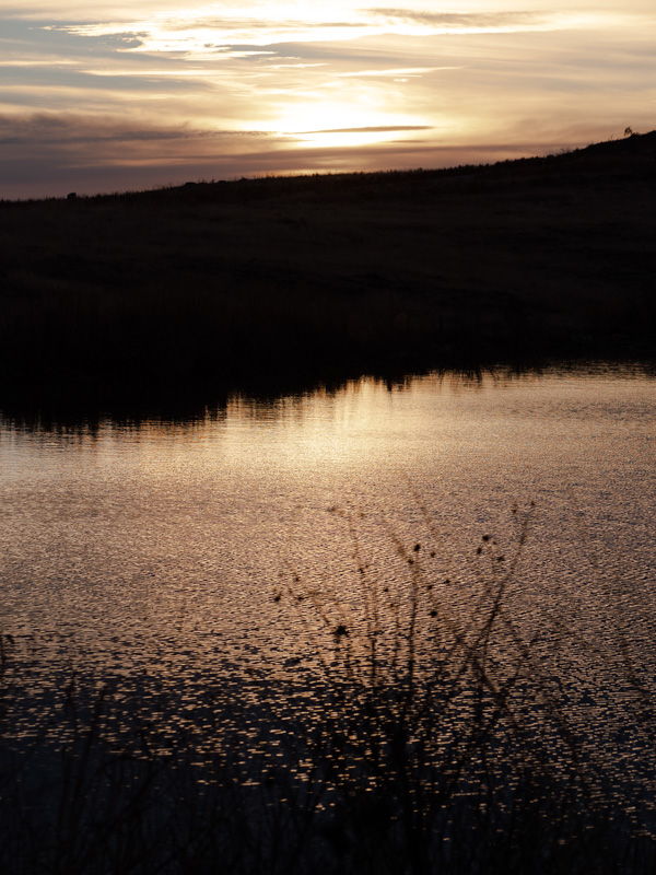 sunset at Wichita mountain wildlife refuge