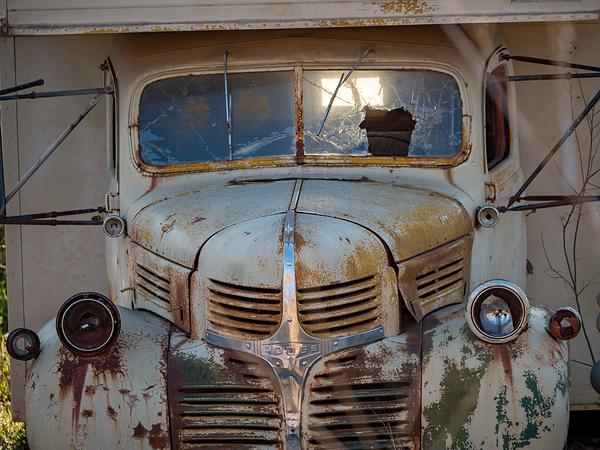 medicine park broken down truck