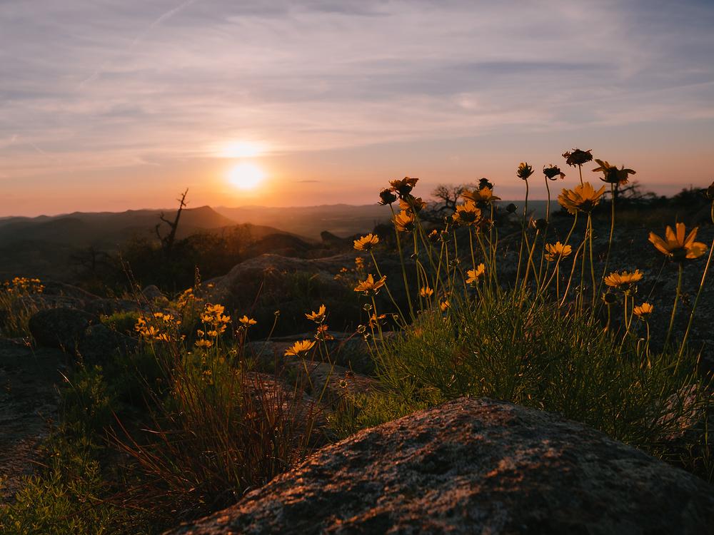 sunset from mount scott oklahoma