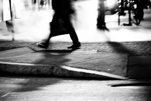 shadows in the street