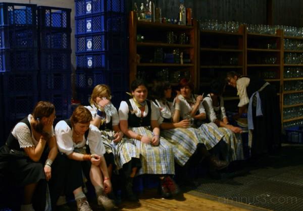 Barmaids at Oktoberfest