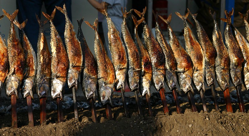Smoked fish on a stick