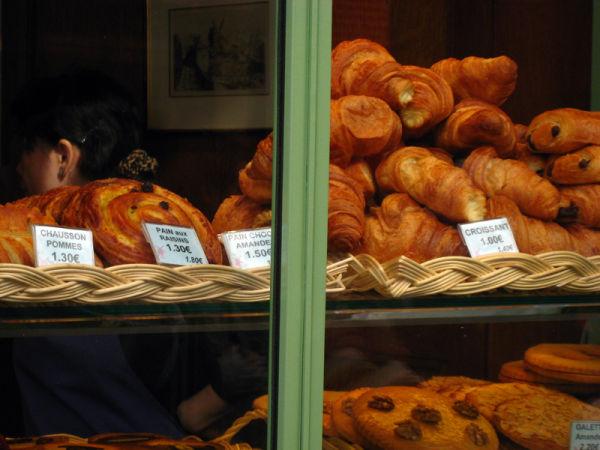 Croissant in Paris window