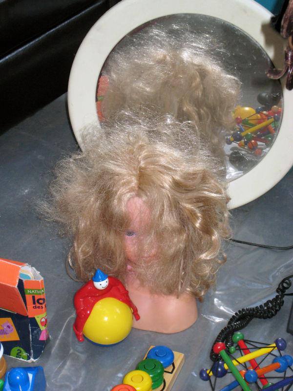 barbie head in paris flea market
