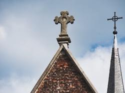 church cross, blue sky