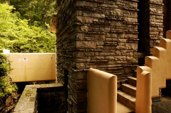 Steps designed by Frank Lloyd Wright
