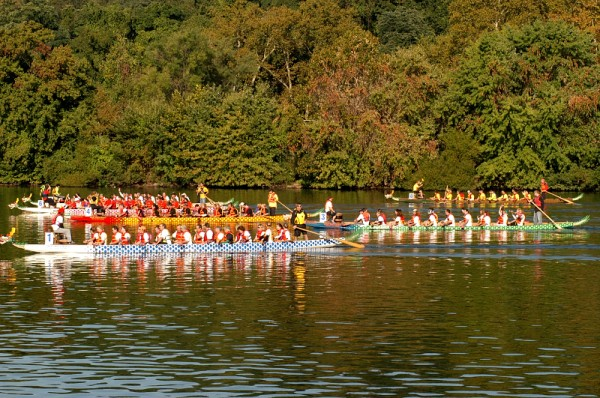 Another view of the Dragon Boats