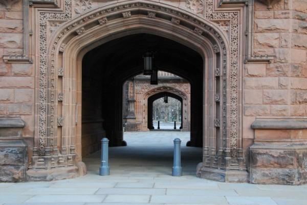 A Stately Princeton University Bldg and Archway.