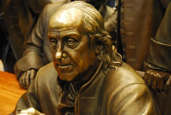Ben Franklin in Bronze