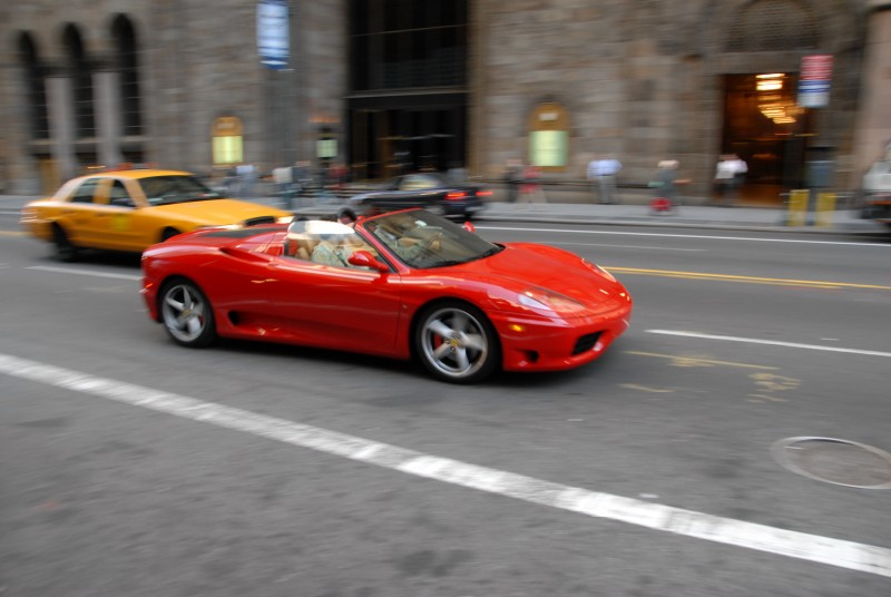 Ferrari on 42nd St. in NYC