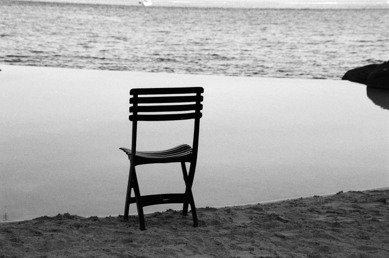 A seat by the sea