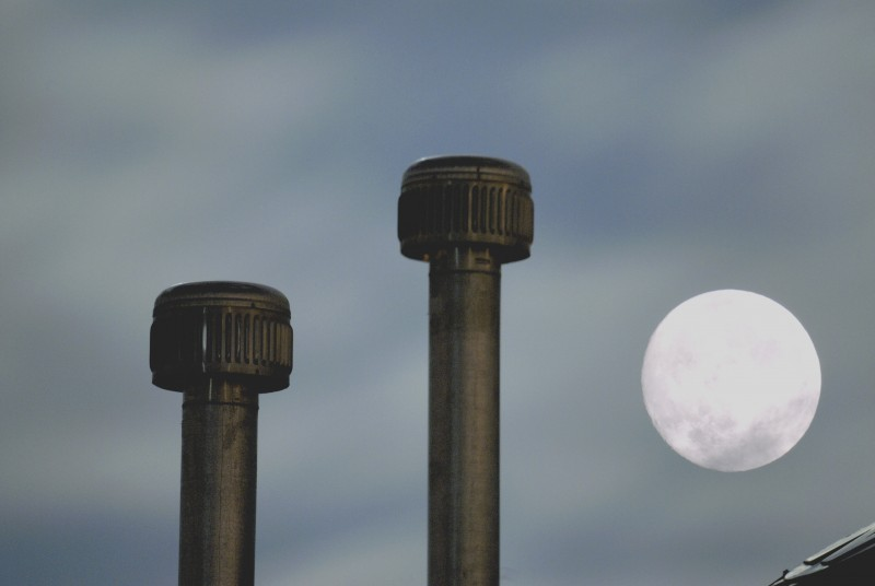 pipes and moon