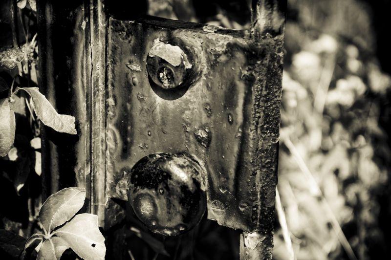 rustic door lock
