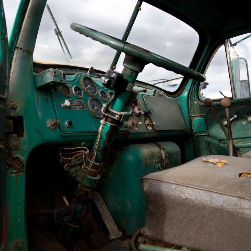 old truck interior