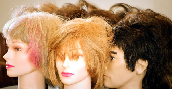 mannequin having hair styled