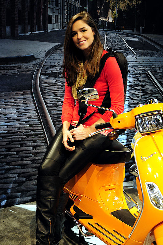 Girl on a Vespa