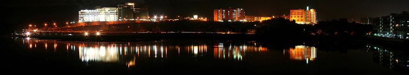 HItec City , Hyd at night