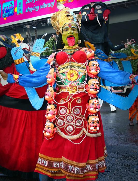 Goddess Kali at the Carnival.