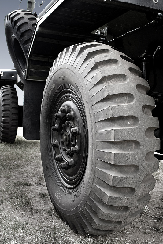 Truck wheel.