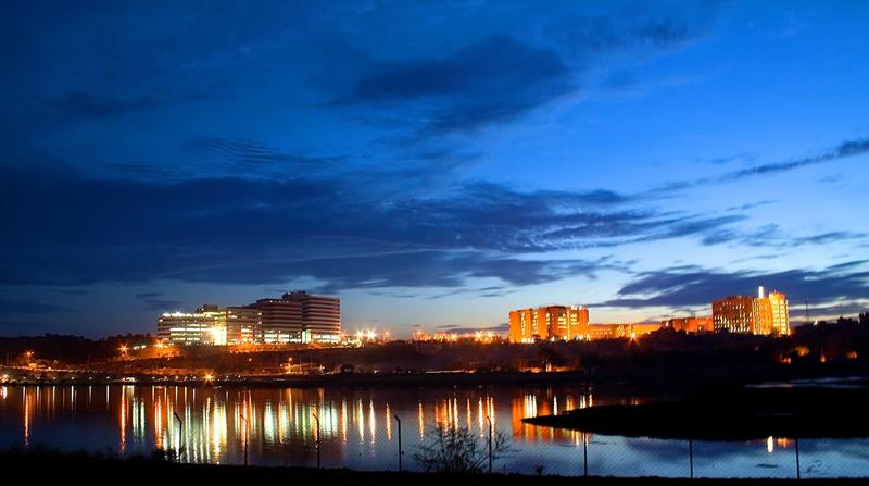 Hitec City just before dark.