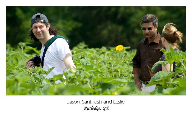 Jason, Santhosh and Leslie
