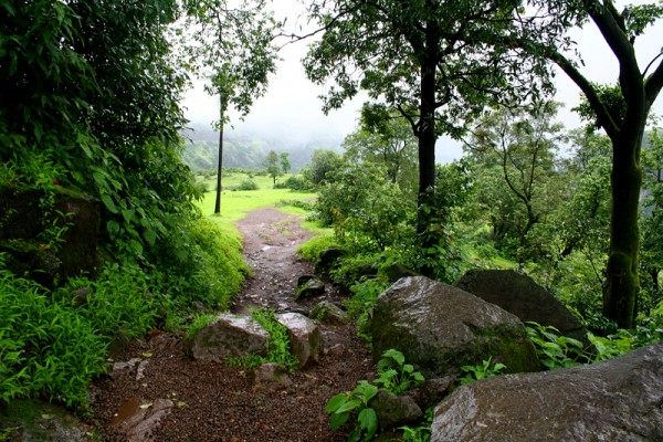 Walking down to Shooting Point, Khandala