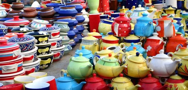 pots clay exibition shilparaman handicraft indian
