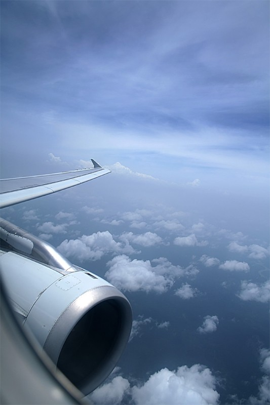 Sky clould view from a plane aeroplane arial